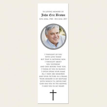 Funeral Bookmark - Celtic Border