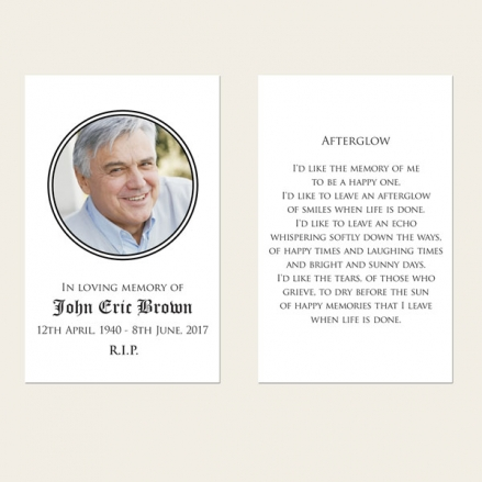 Funeral Memorial Cards - Celtic Border