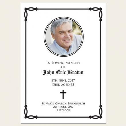 Funeral Order of Service - Celtic Border