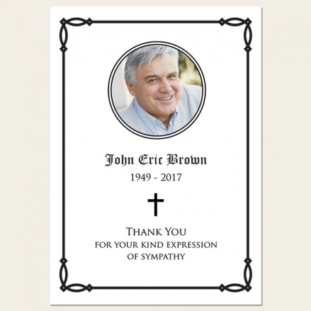 Funeral Thank You Cards - Celtic Border