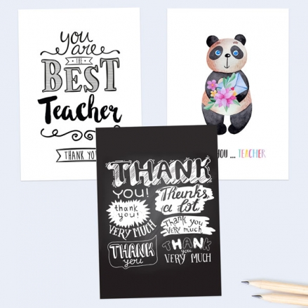 Chalkboard-Teacher-Thank-You-Cards-Pack-of-6