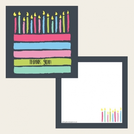 Ready to Write Thank You Cards - Chalkboard Layer Cake