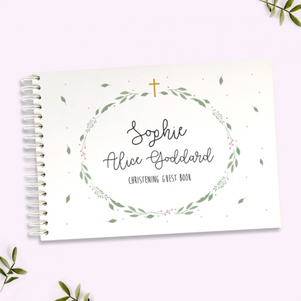 Girls-Foliage-Wreath-Christening-Guest-Book