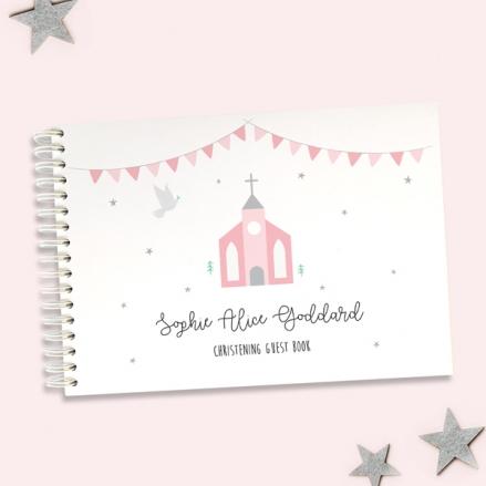 Cute-Pink-Church-Christening-Guest-Book