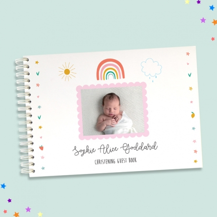 Chasing-Rainbows-Christening-Guest-Book-Use-Your-Own-Photo