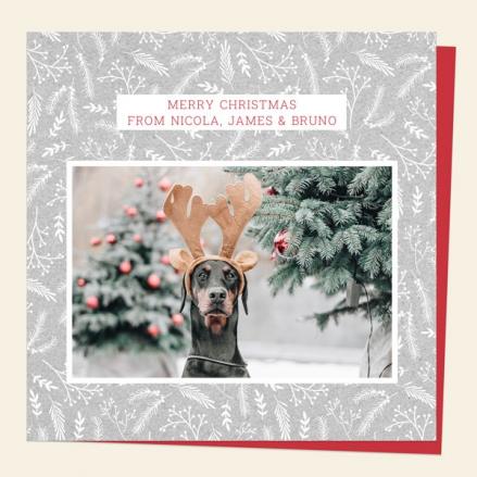 personalised-single-christmas-card-woodland-scandi-pattern-photo-white-foliage