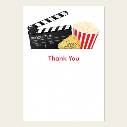 Ready to Write Kids Thank You Cards - Cinema Party