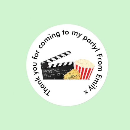 Cinema Party - Sweet Cone Stickers - Pack of 35