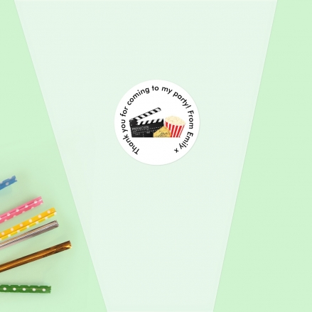 Cinema Party - Sweet Cone Bag & Sticker - Pack of 35