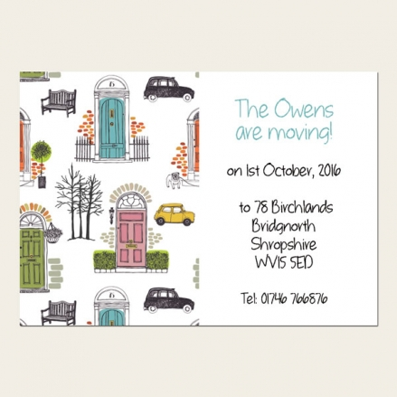 Address Cards - City Life - Pack of 10