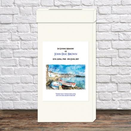 Funeral Post Box - Coastal Harbour Scene