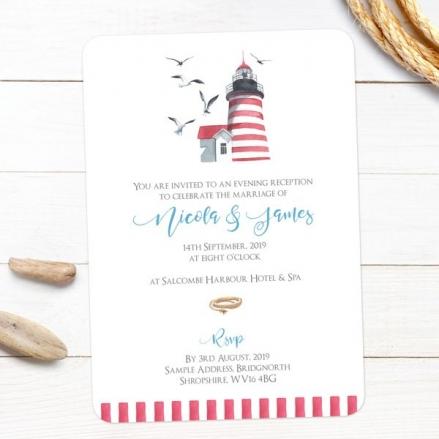 Coastal Lighthouse - Evening Invitations
