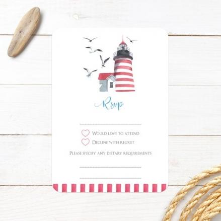 Coastal Lighthouse - Wedding RSVP Cards