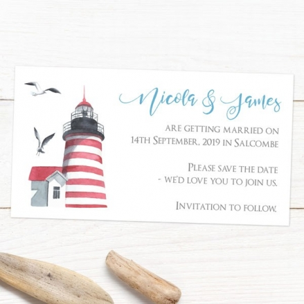 Coastal Lighthouse - Save the Date Magnets