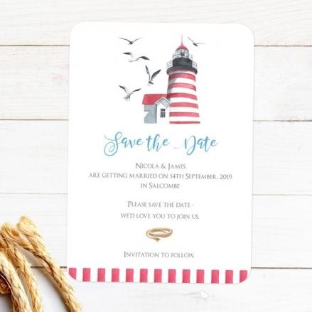 Coastal Lighthouse - Save the Date Cards