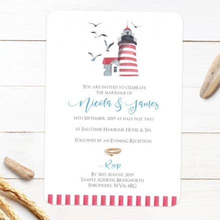Coastal Lighthouse - Wedding Invitations
