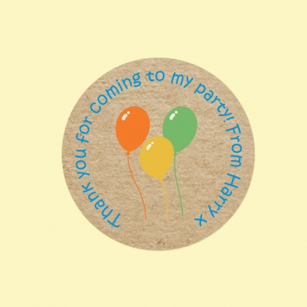 Colourful Balloons - Sweet Cone Stickers - Pack of 35