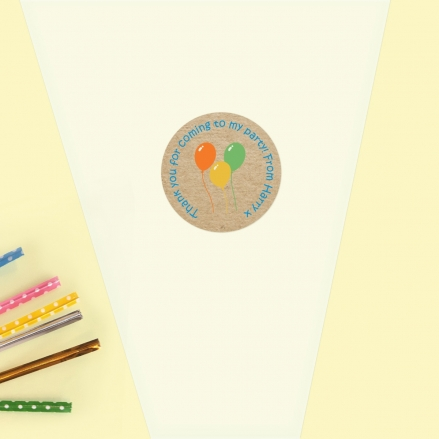 Colourful Balloons - Sweet Cone Bag & Sticker - Pack of 35