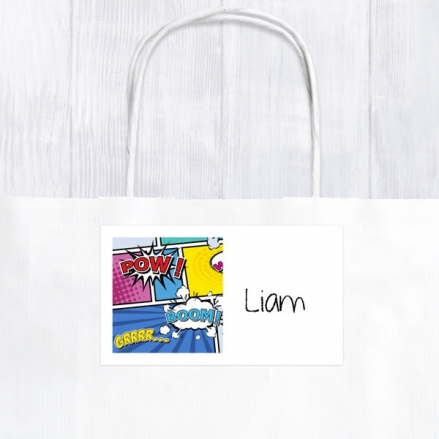 Boys Comic Party - Party Bag & Sticker - Pack of 10