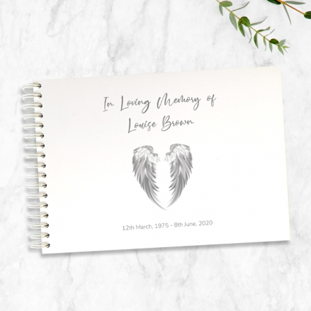 Angel-Wings-Condolence-Guest-Book