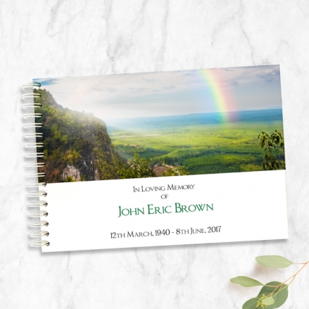 Country-Landscape-with-Rainbow-Condolence-Guest-Book