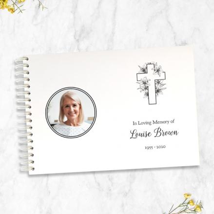 cross-&-lilies-photo-condolence-guest-book