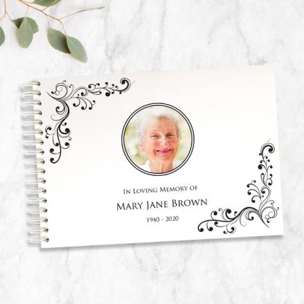elegant-scrolls-photo-condolence-guest-book