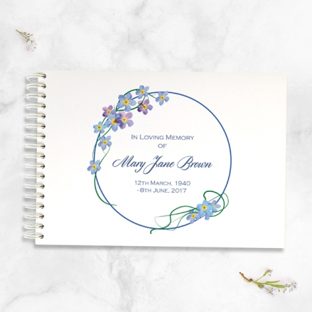 Forget-Me-Not-Border-Condolence-Guest-Book