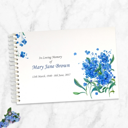 Forget-Me-Not-Bouquet-Condolence-Guest-Book