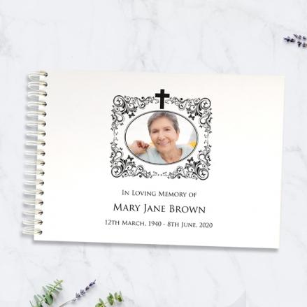 Ornate-Scrolls-&-Butterflies-Condolence-Guest-Book