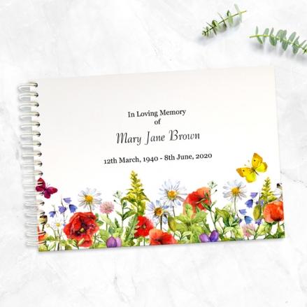 Poppies-&-Butterflies-Condolence-Guest-Book