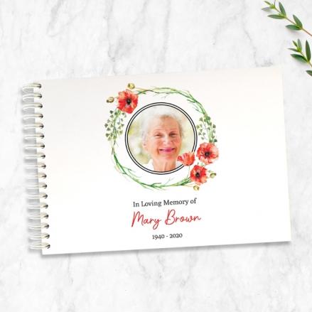 Poppy-Garland-Photo-Condolence-Guest-Book