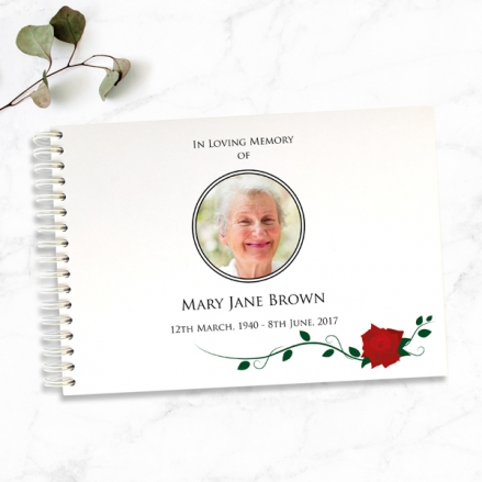 Red-Rose-Scroll-Condolence-Guest-Book