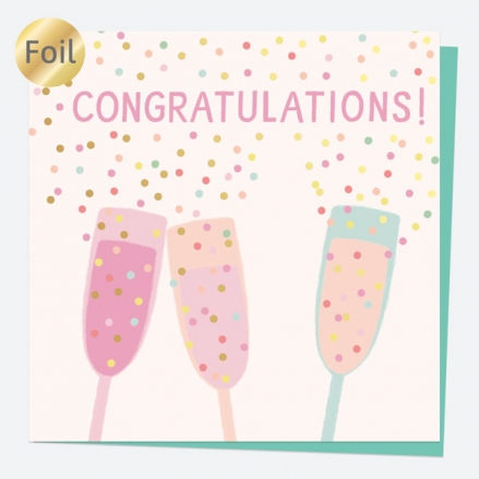 Luxury Foil Congratulations Card - Sweet Spot Champagne - Congratulations