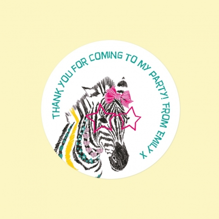 Cool Zebra - Sweet Cone Stickers - Pack of 35