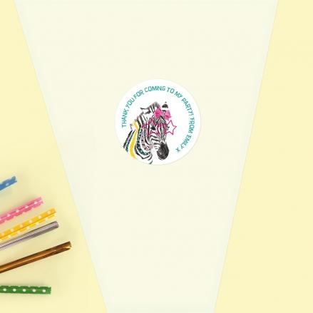 Cool Zebra - Sweet Cone Bag & Sticker - Pack of 35