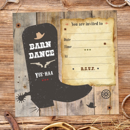 Party Invitations - Country Barn Dance