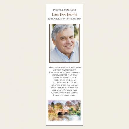 Funeral Bookmark - Watercolour River Scene