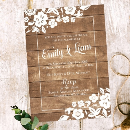 Engagement Party Invitations - Country Lace