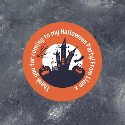 Creepy Pumpkin Castle - Halloween Sweet Cone Stickers - Pack of 35