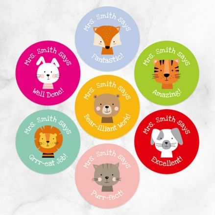 Cute Animals - Teacher Stickers - Pack of 35