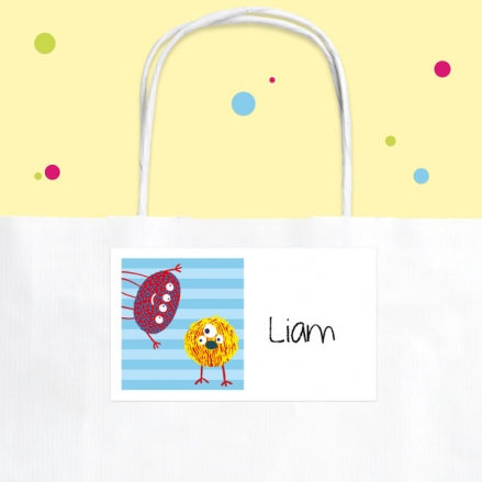 Cute Monsters - Party Bag & Sticker - Pack of 10