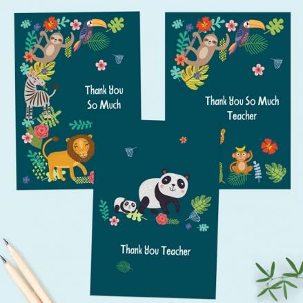 Cute-Safari-Animals-Teacher-Thank-You-Cards-Mixed-Pack-of-6