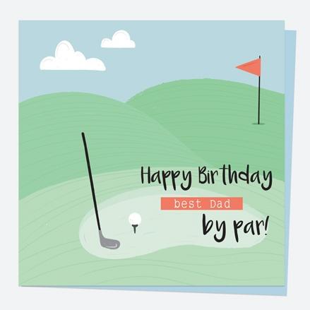Dad Birthday Card - Golf - Best Dad by Par