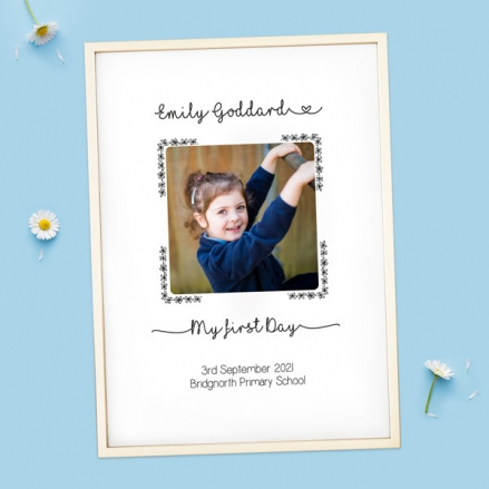 Personalised My First Day Print - Daisy Script