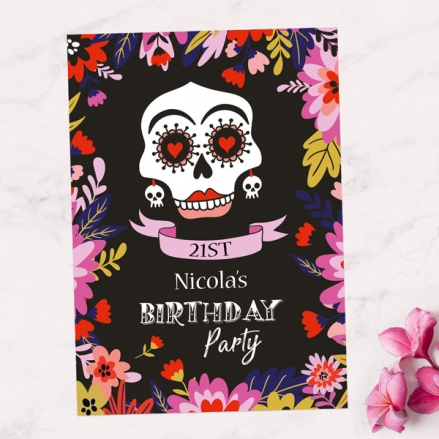 21st Party Invitations - Day of the Dead