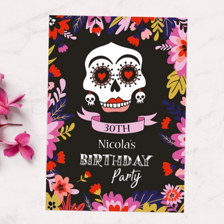 30th Party Invitations - Day of the Dead