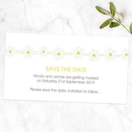 Delicate Daisies - Save the Date Magnets