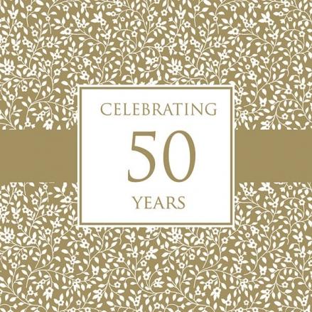50th Wedding Anniversary Invitations - Delicate Pattern