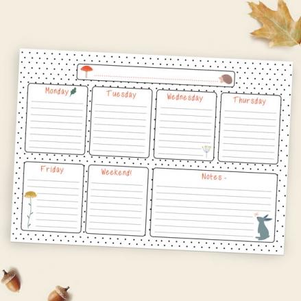 Whimsical-Forest-Kids-Homework-Planner